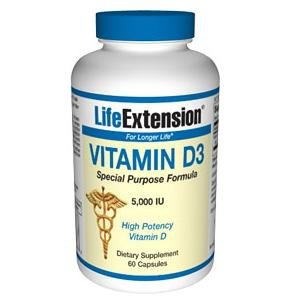 Life Extension Vitamin D3, 5000 IU, 60-Count