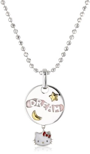 Hello Kitty by Simmons Jewelry Co. Sterling Silver Hello Kitty Diamond Dream Medallion Pendant Necklace
