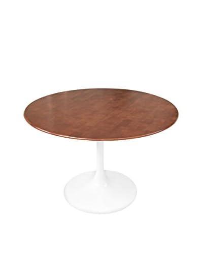 Manhattan Living Flower 36 Wood Top Table, Walnut