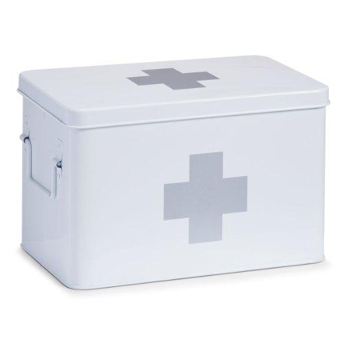 zeller-18119-medizin-box-metall-l-32-x-195-x-20-cm-weiss