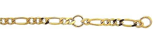 Damen Schmuck Gold Fußkettchen Figaro / Figarokette aus 333 Gelb Gold ( 25 cm ) ( 2 mm ) als Geschenk