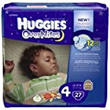Huggies Over Nites Diapers Over 35 lb , 27 CT (Pack of 4)