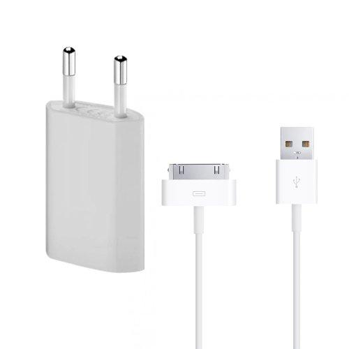 Lapinette Chargeur Secteur + Cable Usb Apple Iphone 4 - 4s