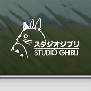 Check Out This Totoro White Sticker Decal Ghibli Laputa Jdm Anime White Car Window Wall Macbook Note...