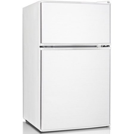 Keystone KSTRC312CW Compact 2-Door Refrigerator/Freezer, 3.1 Cubic Feet, White (2 Door Mini Fridge With Freezer compare prices)