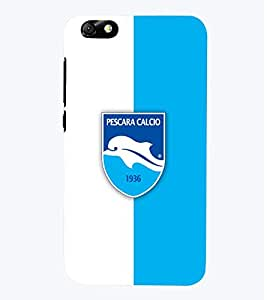 TOUCHNER (TN) White Blue Logo Back Case Cover for Huawei Honor 4X::Huawei Glory Play 4X