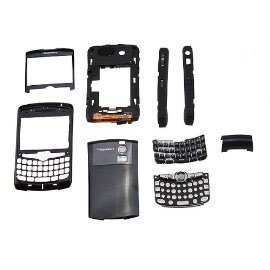 BrainyDeal Oem Blackberry Curve 8300 8310 8320 Full Black Housing (Cover Keyboard Trackball)
