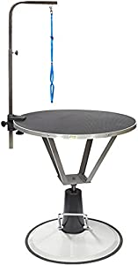 Go Pet Club Pet Dog Hydraulic Grooming Table with Arm, 35.5-Inch