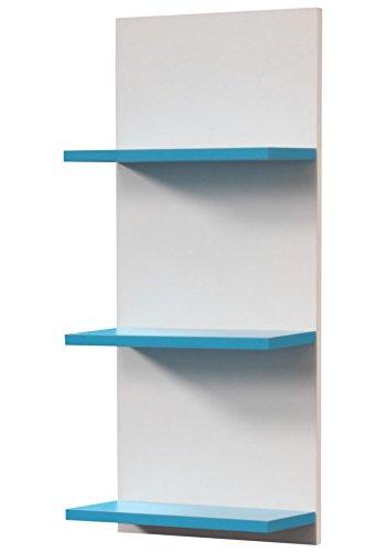 baumarkt direkt Regal »Palma« Breite: 30 cm x Tiefe: 16 cm x Höhe: 70 cm, Türkis/Weiß