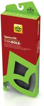 Spenco Thinsole Orthotic Arch Supports 3/4 Length Size W9/10,M8/9