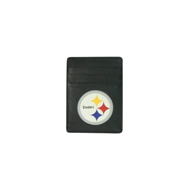 Pittsburgh Steelers Faux Leather Money Clip / Credit Card Holder