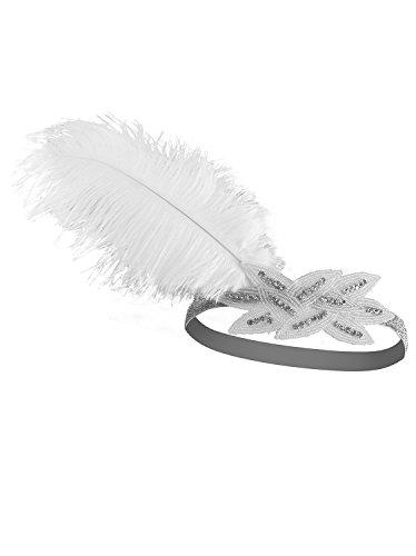Vijiv-Ostrich-Feather-1920s-Headpiece-Silver-Beads-Flapper-Headband