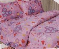 Kids Bedding-Hearts-n-Flowers Spring Bloom Micro Fiber Comforter with Sham