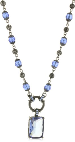 1928 Jewelry Moonlit Sky Beaded Bliss Necklace