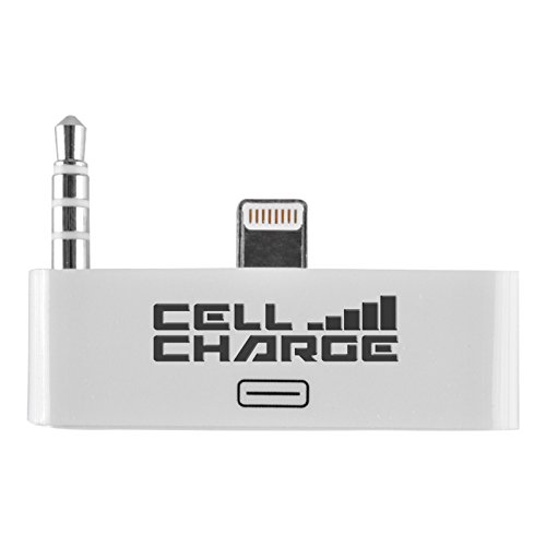 Cell Charge 30 Pin To 8 Pin Audio Jack Adapter Converter For Iphone 5/5S/5C (White)