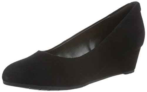 Clarks Vendra Bloom - Zeppe da donna, Nero (Black Suede), 39 EU