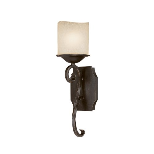 Capital Lighting 8431RM-205 Wall Sconce with Candlelight Glass Shades, Raw Umber Finish