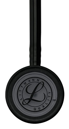 3M Littmann Classic III Stethoscope, Black Edition Chestpiece, Black Tube, 27 inch, 5803