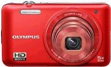 Olympus VG-160 14MP Digital Camera with 5x Optical Zoom (Red) (Old Model)