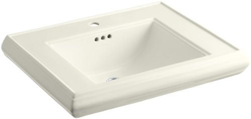 Kohler K-2259-1-96 Memoirs Pedestal Lavatory Basin with Single-Hole Faucet Drilling, Biscuit
