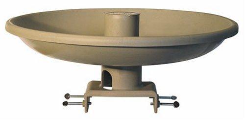 Farm Innovators HBI-150 All Seasons Premium Heated Birdbath with Deck Mount & Perch, Tan, 150-Watt