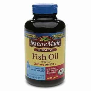 Nature made burp less fish oil 1000 mg 300 for Nature made fish oil 1000 mg