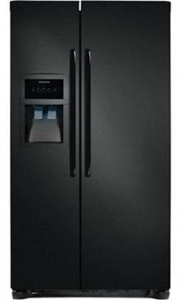 Frigidaire Ffhs2622Mb 26 Cu. Ft. Side-By-Side Refrigerator - Black front-135939