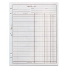 Inventory Sheets, 1 Part, 8-1/2\