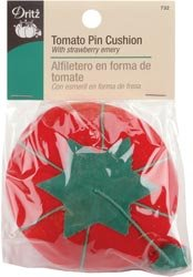 Dritz Tomato Pin Cushion With Emery Strawberry 732; 6 Items/Order