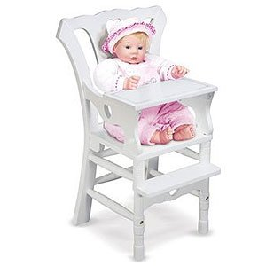 Melissa & Doug Deluxe Wooden Doll High Chair