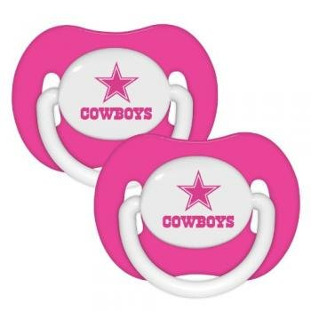 Dallas Cowboys 2-pack Pink Infant Pacifier Set - 2014 NFL Baby Girl Pacifiers