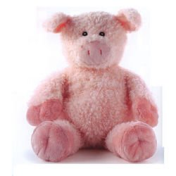 Aromahome Aroma Home Aromatherapy Hot Hugs Pink Pig Plush Stuffed Animal-Lavender & Chamomile