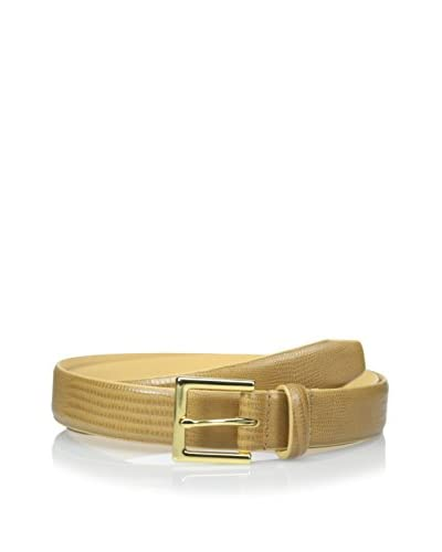 Isaac Mizrahi Men's Lizard Embossed Leather Belt