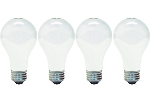 GE Lighting 66247 Energy-Efficient Soft White 43-Watt, 750-Lumen A19 Light Bulb with Medium Base, 4-Pack