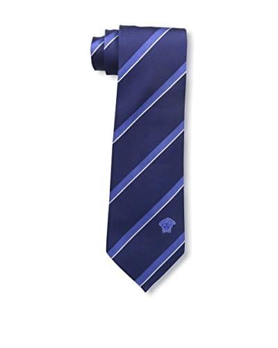 Versace Men's Silk Tie, Blue