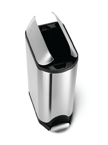 simplehuman Butterfly Pedal Bin with Fingerprint-Proof Brushed Stainless Steel Finish, 30 Litre