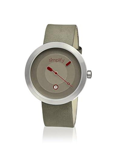 Simplify Men's SIM0302 The 300 Grey Leather Watch
