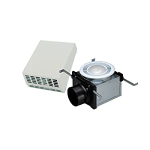 "Fantech PBW110F 4"" Duct 110 CFM Bath Fan (Exterior Mount) Energy Star Rated 14-Watt Fluorescent light"