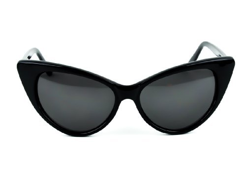 Black Round Cat Eye Style Sunglasses