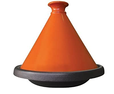 Le Cuistot Enameled Cast Iron 12 Inch Tagine - Bright Orange by Le Cuistot by Le Cuistot