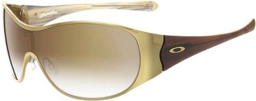 Oakley Women's Breathless Oo4026 Polished Gold Frame/Brown Gradient Lens Metal Sunglasses