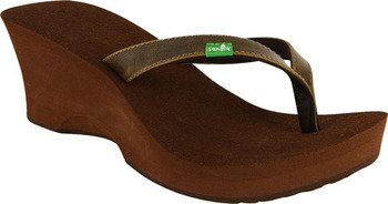 Sanuk Women's Vertigo Thong Sandal,Brown,7 M US
