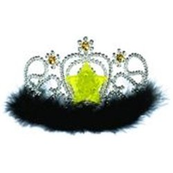Light Up Tiara with Marabou Trim