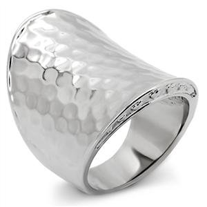RIGHT HAND RING - Hammer-Finish High Polished Stainless Steel Ring