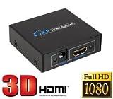 1入力2出力 対応 HDMI分配器 スプリッター