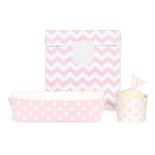 Paper Eskimo Party Decoration Kit, Blush Pink Chevron front-984663