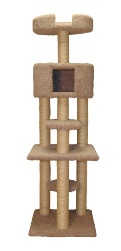 Family Cat 49261 Multi-Level Cat Tree With Condo And Sky Lookout, Natural Beige