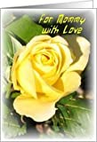 Mommy-Happy Birthday-Big Yellow Rose Card