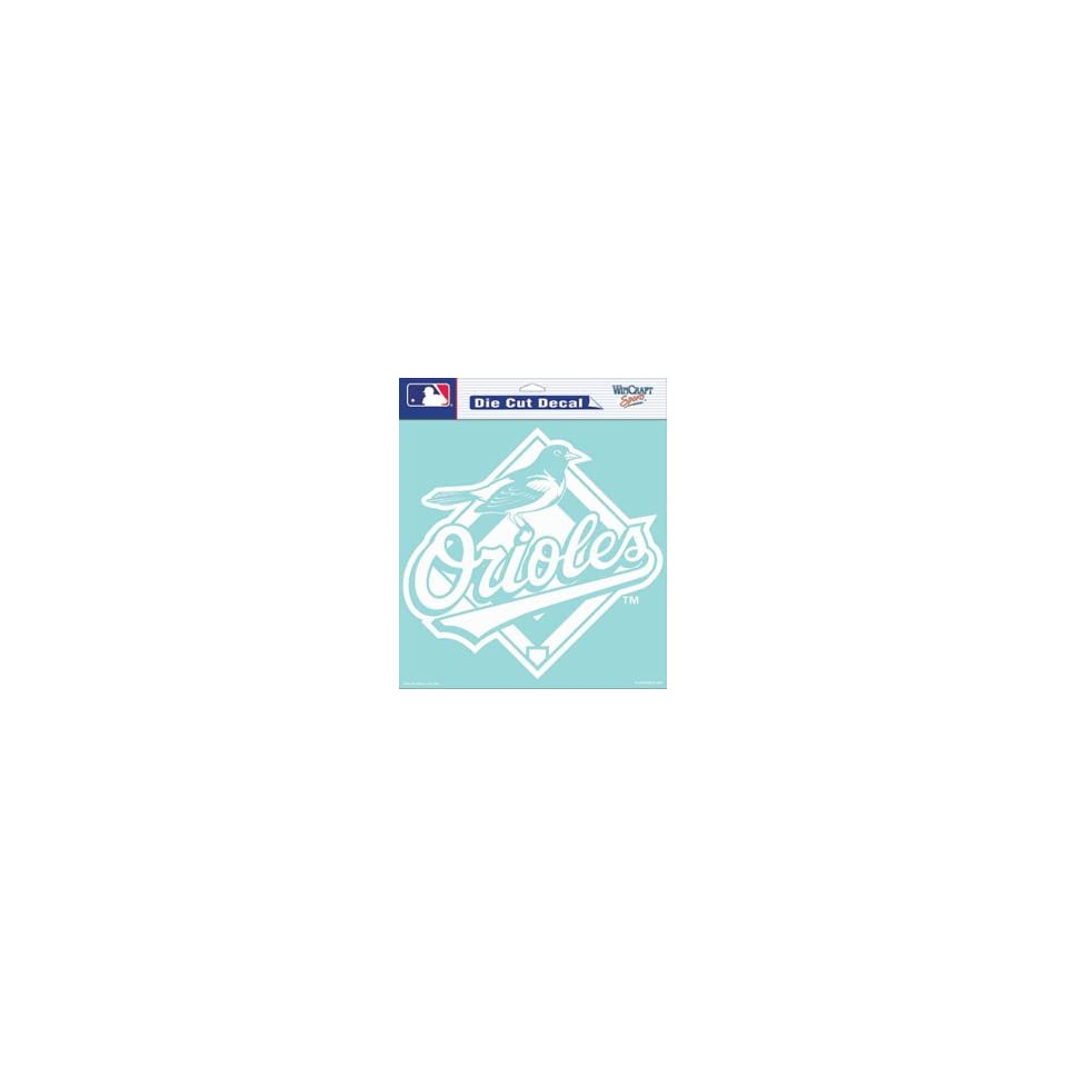 Baltimore Orioles Die Cut Decal   8in x8in White