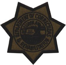 CALIFORNIA DEPARTMENT OF CORRECTIONS & REHABILITATION - CDC - Star - Subdued, Eureka CDC, CDCR, California Dept. of Corrections and rehab - Patch - Police Patch, Jail, Prison - Sold by UNIFORM WORLD (Ca Department Of Corrections compare prices)